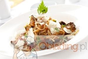spaghetti ze śliwkami
