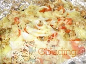 zapiekanka z kurczakiem i ryżem
